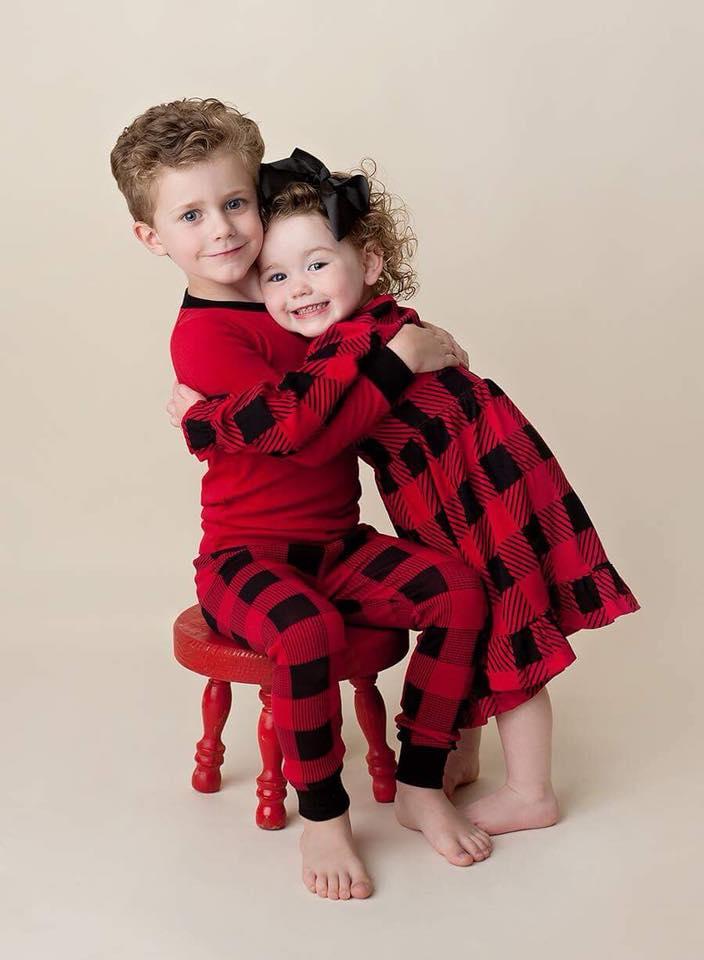 Christmas Pajamas ~ Kids - Pinwheel Prints