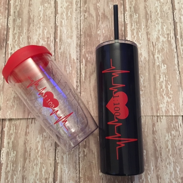 1 in 100 Heartbeat Tumbler Collection